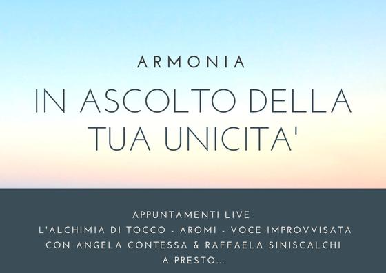 """""""ARMONIA"""": APPUNTAMENTI LIVE"""